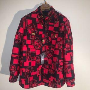 Versace GV wool blend flannel shirt jacket